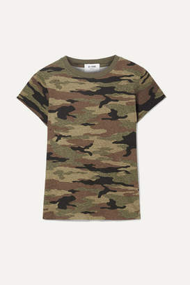 RE/DONE Camouflage-print Slub Cotton-jersey T-shirt - Army green