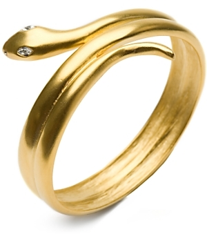 Kenneth Jay Lane Brushed Gold Snake Coil Bracelet