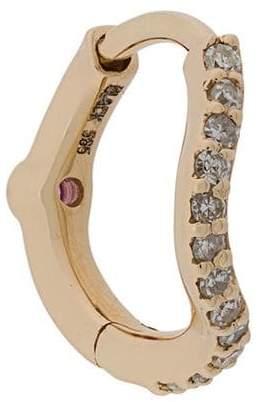 Black Diamond Maria Wave Huggie earring