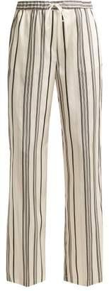 Jil Sander Gianmarco Silk Trousers - Womens - Black White