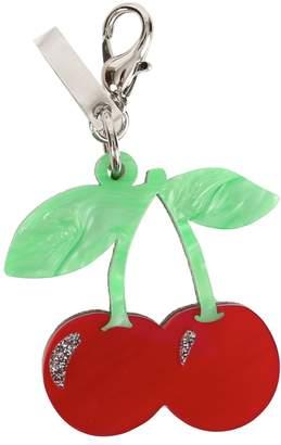 Edie Parker Cherry Keychain