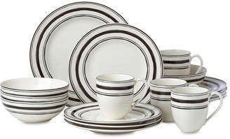 Lenox Around the Table Stripe 16-Pc. Dinnerware Set Service For 4