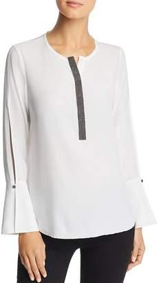 Go Silk Go by Split Sleeve Blouse