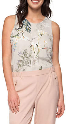 Dex Pleated Front Printed Tank Top
