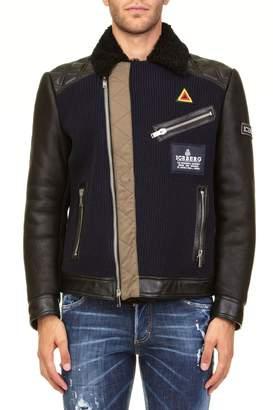 Iceberg Leather And Wool Jacket