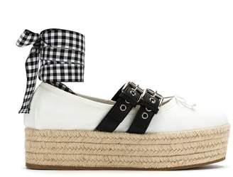 Miu Miu Buckled platform ballerina shoes