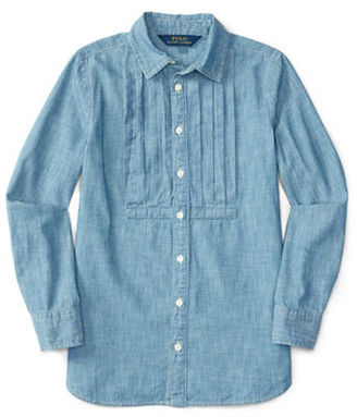 Ralph Lauren Childrenswear Girls 2-6x Cotton Tunic $45 thestylecure.com