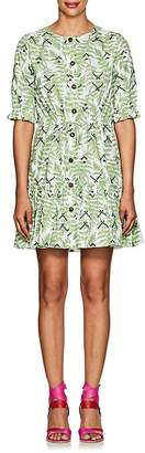 Saloni Women's Billie Fern-Print Cotton Dress