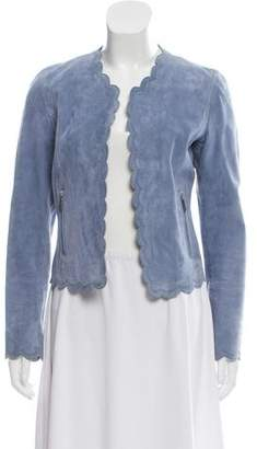 Barbara Bui Scalloped Suede Jacket