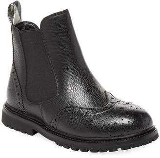 Burberry Wingtip Leather Boots