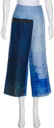 Akris Printed Wide-Leg Pants w/ Tags