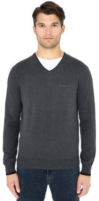 Ben Sherman Grey V-Neck Cotton Jumper