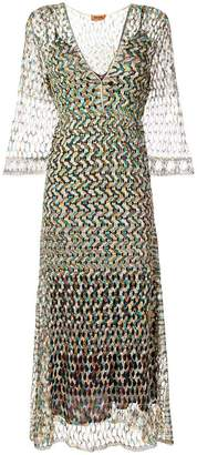 Missoni perforated V-neck dress