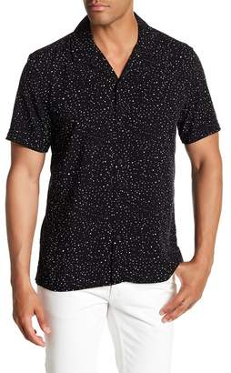 Toscano Short Sleeve Dot Print Woven Shirt