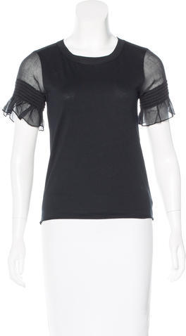 See By ChloeSee by Chloé Scoop Neck Short Sleeve Top