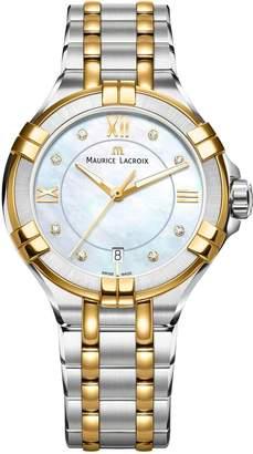 Maurice Lacroix Women's AI1006-PVY13-171-1 Aikon Analog Display Quartz Two Tone Watch
