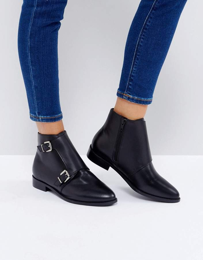 ASOS ANNETTE Leather Ankle Boots