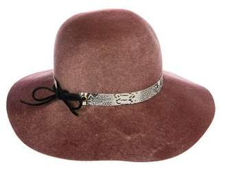 Eugenia Kim Wool Leather-Trimmed Hat