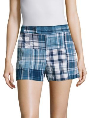 Polo Ralph Lauren Cotton Madras Shorts $198 thestylecure.com