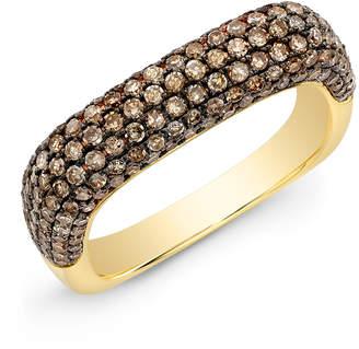Anne Sisteron Champagne Diamond Square Ring