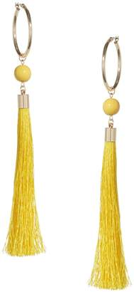 Lord & Taylor Design Lab Tassel Hoop Earrings