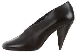 Celine Leather Round-Toe Pumps