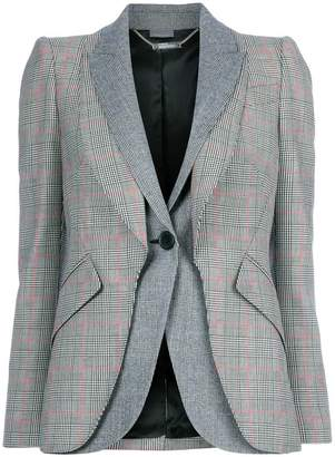 Alexander McQueen Prince Of Wales double layer blazer