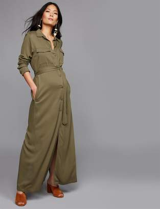 BB Dakota Utility Button Front Maternity Dress