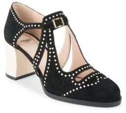 Fendi Chameleon Studded Pumps