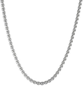 JCPenney FINE JEWELRY Mens Stainless Steel 24 4mm Box Chain