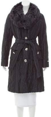 Guy Laroche Fur-Trimmed Puffer Coat