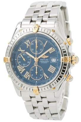 Breitling Windrider B13055 Stainless Steel & 18K Yellow Gold Blue Dial Automatic 42mm Mens Watch