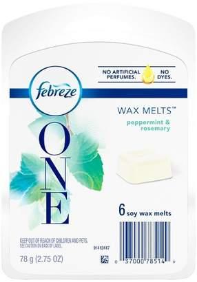 Febreze One Peppermint & Rosemary Soy Wax Melts Air Freshener - 6ct