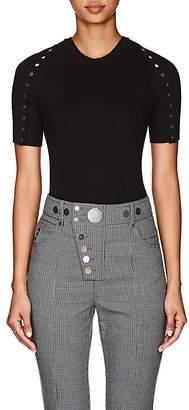 Alexander Wang Women's Snap-Detail Rib-Knit Cotton Sweater