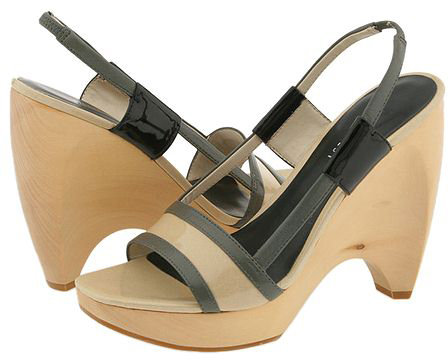 Nine West Whipped Grey/ Ivory Multi Leather - Footwear