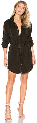 Hudson Jeans Peyton Military Shirt Dress in Army $255 thestylecure.com