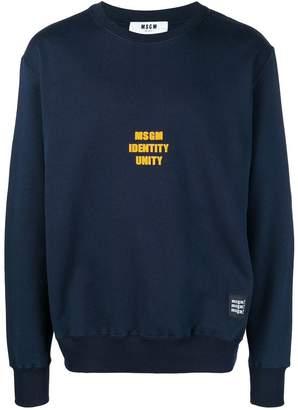 MSGM round neck sweatshirt