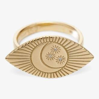 MQuan Crescent Star Eye Ring