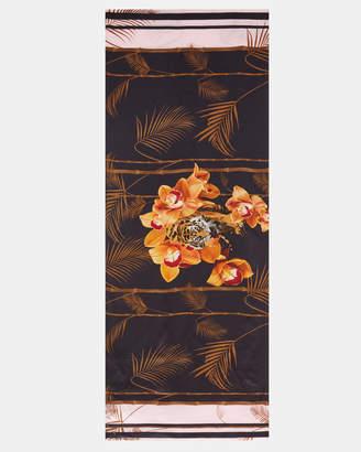 Ted Baker CADEEY Caramel silk cape scarf