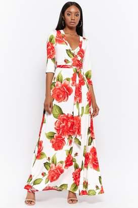 Forever 21 Rose Print Maxi Dress