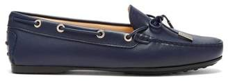 Tod's Gommino Leather Loafers - Womens - Navy