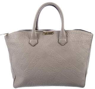 Burberry Embossed Leather Canter Tote