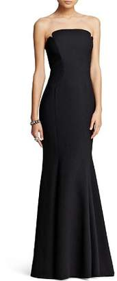 Jill Stuart Deco Neckline Strapless Gown