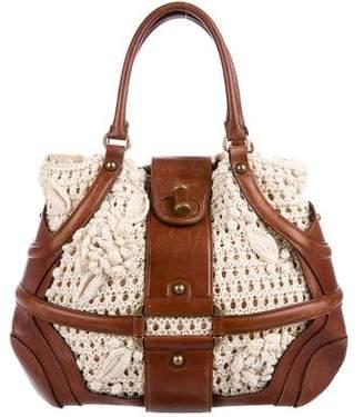 Alexander McQueen Crochet Handle Bag