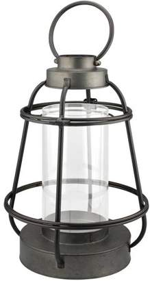 STONEBRIAR COLLECTION Stonebriar Collection Large Metal Lantern Candle Holder with Handle and Glass Insert