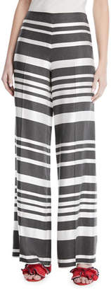 Trina Turk Netti Parasol Striped Wide-Leg Pants