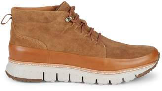 Cole Haan ZeroGrand Rugged Suede & Leather Chukka Boots