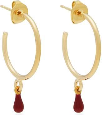 Isabel Marant Casablanca teardrop hoop earrings