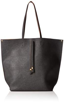 Pcluxe Leather Shopper, Womens Handbag, Mehrfarbig (Cognac), 12 x 38 44 cm (wxhxd) Pieces