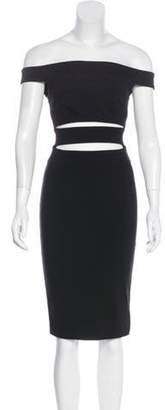 Nicholas Off-The-Shoulder Mini Dress Black Off-The-Shoulder Mini Dress